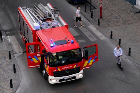 Brukselska straż pożarna obrzucana kamieniami podczas akcji